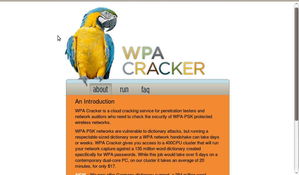 Wpa cloud cracking service