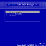DESlock+ BootScreen