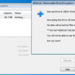 Decrypt Removable Drive