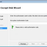 Encryption Authorisation Code
