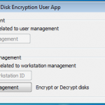 Full Encryption User Application