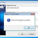 Keyfile Password Changed