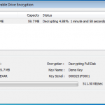 Removable Drive Decryption in Progress