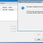 Removable Drive Encryption Complete