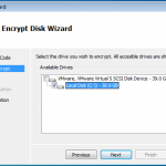 Selecting HD to Encrypt