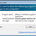 Starting Full Encryption User Application